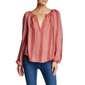 Free People Against All Odds BOHO Blouse Top S